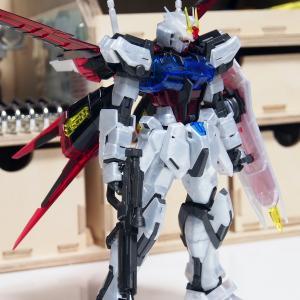 MG ガンダムベース限定エールストライクガンダム Ver.RM[クリアカラー]製作1/仮組み