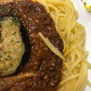 日清)揚げなすの入った牛挽肉のボロネーゼ(ウマいはいいぜ!)