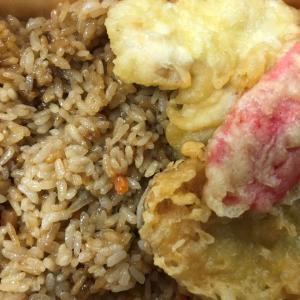 阿波座食堂)鶏めし弁当(鶏めしの旨い味付け&さくさく天ぷら!)