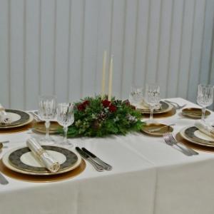 11月のテーブルコーディネートレッスン「おもてなしのクリスマステーブル」