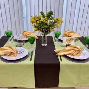 2月のテーブルコーディネート レッスン「ミモザの季節のテーブルコーディネート 」