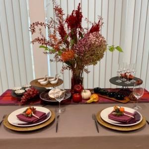 10月のテーブルコーディネートレッスン「Happy Harvest ! 秋の実りを楽しむテーブル」