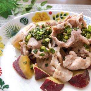豚肉とさつまいものネギ塩ダレ【#豚肉 #さつまいも #ネギ #レシピ #おかず】