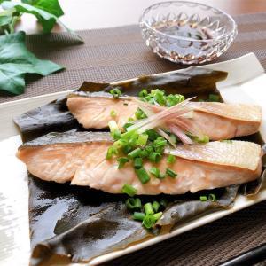 鮭の昆布蒸し【#鮭 #昆布 #昆布蒸し #レシピ #おかず】