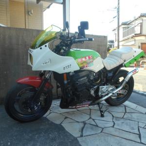 GPZ900R:自作左出しSP忠男コブラ管(ナンチャッテ)テスト走行