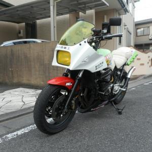 GPZ900R:プレデターヘルメットでホーム定峰朝練