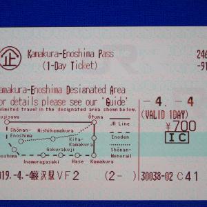 鎌倉・江ノ島パスを使って江ノ電と湘南モノレールに乗る・きっぷ124