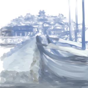 城下の冬景色
