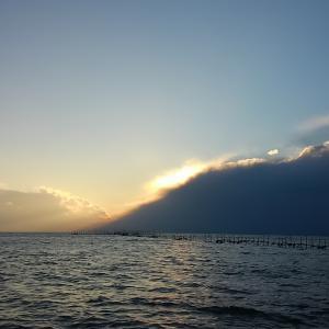 琵琶湖北湖バス釣り、久しぶりの琵琶湖は激増水&強風