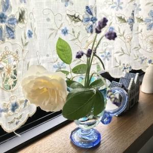 今年のバラ そしてスイス刺繍の裁縫ケース完成しました