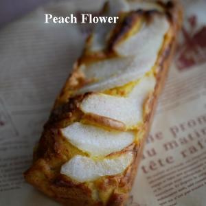 梨のパウンドケーキを作りました
