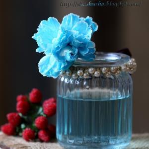 癒しの青いカーネンション