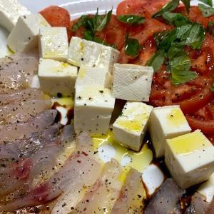 三浦のメジナのカルパッチョと干物