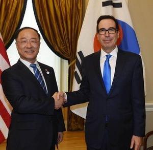 【韓国】副首相、米国財務長官に「日本の輸出規制がグローバル・バリューチェーンを損ない、世界経済に否定的な影響を与える」と伝える