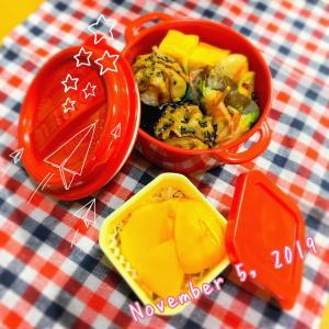 休み明けのお弁当はガツンと肉巻きおむすび(о´∀`о)