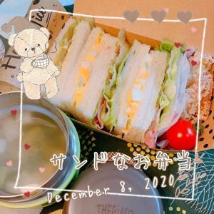 女子高生のサンドウィッチなお弁当⸜(* ॑꒳ ॑* )⸝