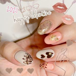 37歳のバレンタインネイル♡2021バレンタイン♡