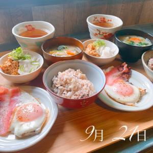 珍しく和食で始まる1週間⸜(* ॑  ॑* )⸝