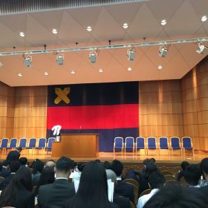 入学式に行ってきました@三田キャンパス