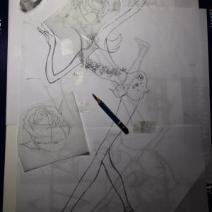 バレエイラストリメイク『Cupid』