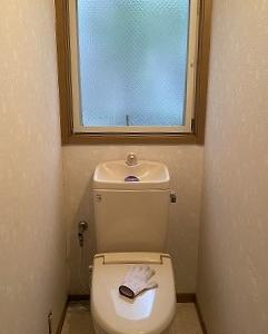トイレの壁紙DIY①