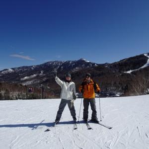 今日はスキーだ!