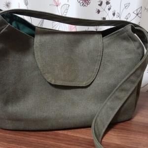 昨日の斜め掛けバッグ、ほどいて直しました!