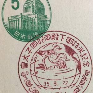 皇太子同妃両殿下御訪米記念 昭和35年(1960年) 名古屋中央特印