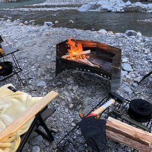 【2020年冬】薪使い放題のCAZUキャンプ場でソロキャンプ【後編】