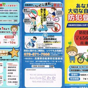 自転車防犯登録