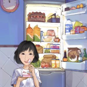 冷蔵庫がガラガラ
