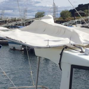台風17号が通過しました。加奈丸をいつでも釣り行けるように準備してきました。〓としています。