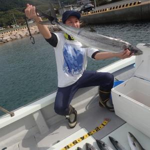 広島のKさんが95センチのサワラを釣りました。加奈丸船長は・・・・