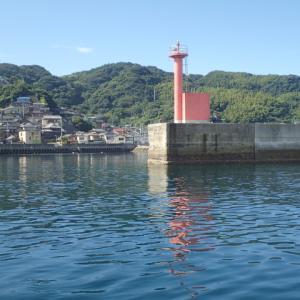 久しぶりに妻と二人で加奈丸Ⅱでの船釣りに行ってきました。目的地は上関の長島の白井田漁港沖でのアジ釣りです。