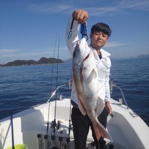 新しい加奈丸Ⅱの釣り仲間になったSIMAさんが田布施町から釣行に来ました。結果はまあまあかな?