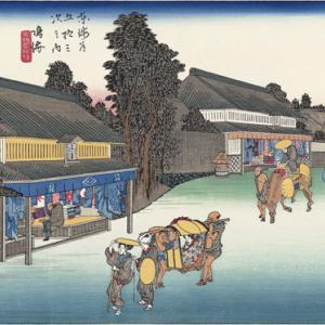 東海道浮世絵地点探し(1) 熱田宿から掛川宿