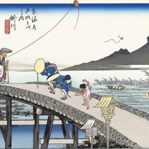東海道浮世絵地点探し(2)  掛川宿から三島宿