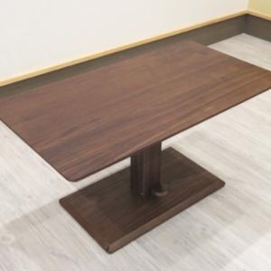 天板高43cm~54cmまで無段階で変えられるウォールナット突き板木製リフティングテーブルをアップロード
