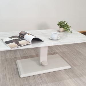 天板大理石柄メラミン天板昇降テーブルを入荷・検品・組み立て・写真撮影しました