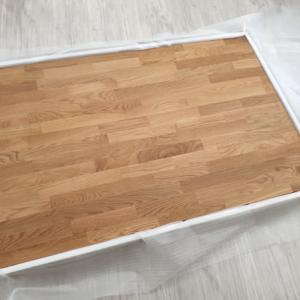天然木とスチール脚の組み合わせがモダンなテーブル 座卓 サイズが選べます W125 W150 W180 W210cm 天然木オーク無垢材 ナラ材 リビングテーブル 125 天板無垢 モダン ナチュラル ライト色 スチール脚 アイアン ローテーブル おしゃれ 長方形 一枚板風を入荷・検品・梱包・出荷