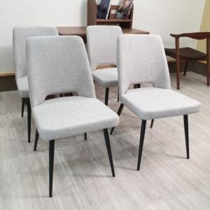ブラックとグレーから選べるアイアン脚とファブリックのシンプルモダンなダイニングチェアー 2脚入りファブリック 布張り ダイニングチェアー 食卓椅子 ブラック グレー アイアン脚 単品販売 2脚セット 黒 オシャレ 北欧 モダン 送料無料を入荷検品配達