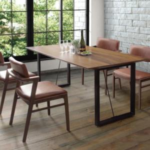ウォールナット材と相性のいいブラックアイアン脚テーブル W150のご紹介