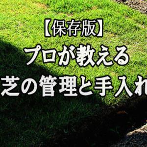 【保存版】 芝 管理 と 手入れ ※オススメ芝と必需品掲載アリ