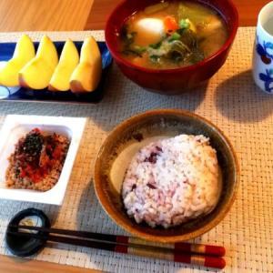 平日の朝ご飯と今日の夕飯