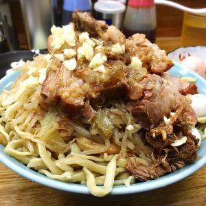 【デカ盛り】ラーメンそらのつけ麺800gをとろろとタマネギで堪能☆長野の友人を迎えて麺増し会【大食い】