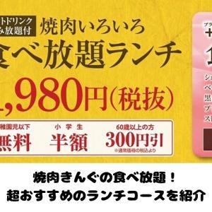 【話題のブランド】焼肉きんぐ ランチ食べ放題1980円のお得すぎるメニュー内容を紹介【ドリンクバー付き】