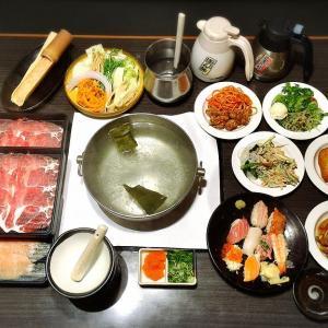 【ゆったり】どん亭で寿司食べ放題発見!しゃぶしゃぶとビュッフェ付きのメニューで楽しんでみた【ディナー】