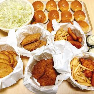 【テイクアウト】ロッテリアのおトクバケツシリーズでセルフ食べ放題☆パンを買ってくればOK【お家ごはん】