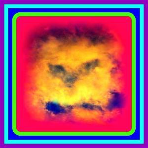 夕焼け雲に【精霊】出現