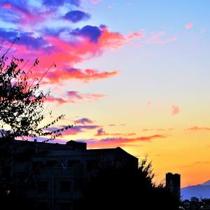 夕景の【富士山】雄姿